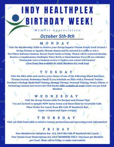 Happy Birthday to the Indianapolis Healthplex